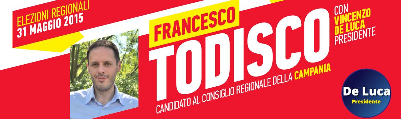 Todisco candidato al consiglio regionale della Campania
